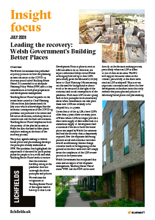 Download Leading the recovery: Welsh Government's Building Better Places